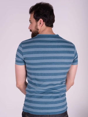 ESSENTIAL FANCY STRIPPED Henly T-Shirt