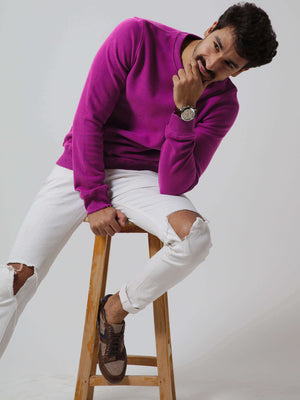 ESSENTIAL Crew Neck Cashmere Sweatshirt