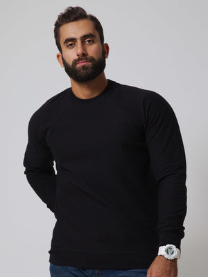 ESSENTIAL Textured Round Neck Sweatshirt
