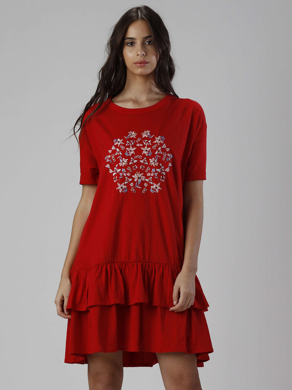ANOUSHKA Embroidered Dress