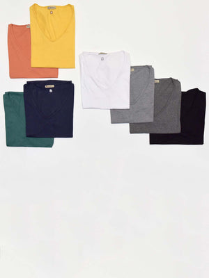 Pack of 2 ESSENTIAL Wide V Neck T-Shirt