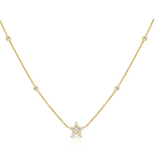 Load image into Gallery viewer, 14k Gold & Diamond Star Necklace