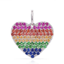 Load image into Gallery viewer, 14k Gold & Sapphire Heart Charm