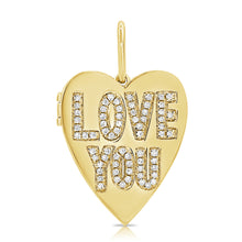 Load image into Gallery viewer, 14k Gold & Diamond Heart Charm Locket