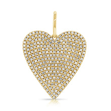 Load image into Gallery viewer, 14k Gold & Diamond Heart Charm