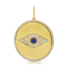 Load image into Gallery viewer, 14k Gold & Diamond Evil Eye Charm