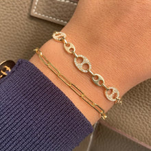 Load image into Gallery viewer, 14k Gold & Diamond Link Bracelet