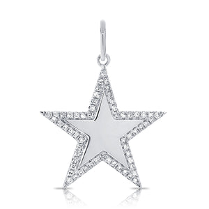 14k Gold & Diamond Star Charm