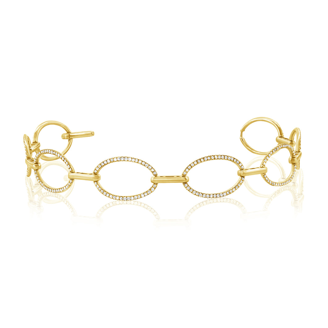 14k Gold & Diamond Link Bracelet