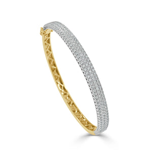 14k Gold & Diamond Bangle