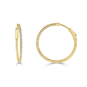 Sabrina Designs 14K Yellow Gold Diamond Flexible Hoops