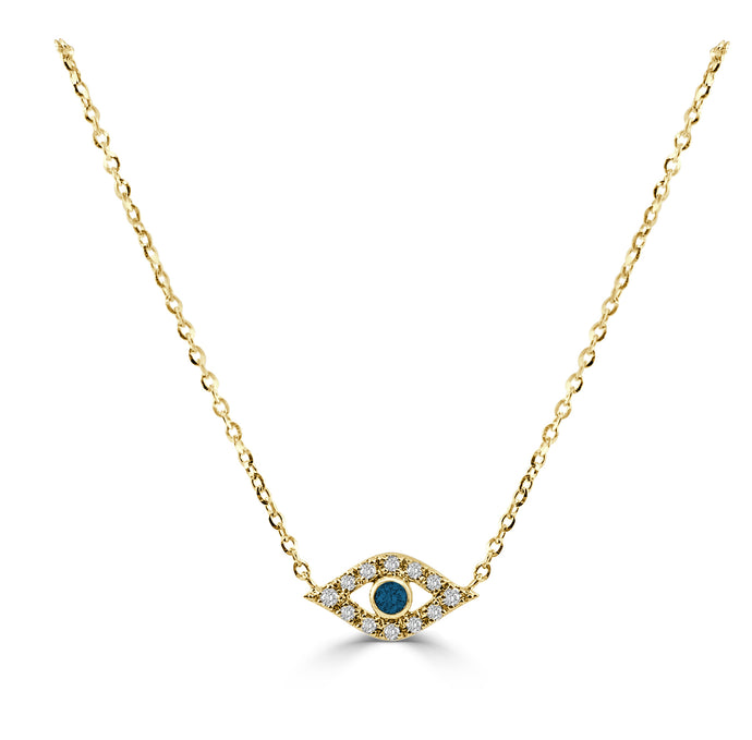 Sabrina Designs 14k Yellow Gold Diamond Evil Eye Necklace