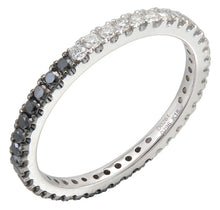 Load image into Gallery viewer, Sabrina Designs 14K  White Gold Black and White Diamond Eternity Band