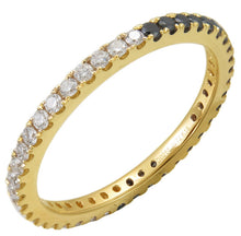 Load image into Gallery viewer, Sabrina Designs 14K Yellow Gold Black and White Diamond Eternity Ring