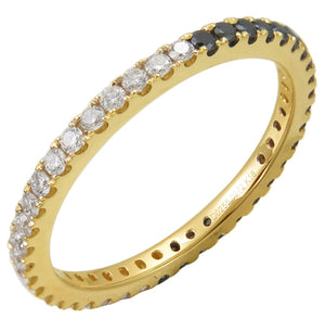 Sabrina Designs 14K Yellow Gold Black and White Diamond Eternity Ring