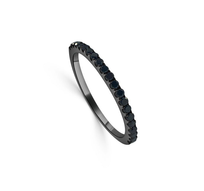 Sabrina Designs 14K Black Gold Black Diamond Stackable Ring