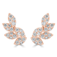 Load image into Gallery viewer, Sabrina Designs 18k Rose Gold Diamond Cluster Ear Climbers