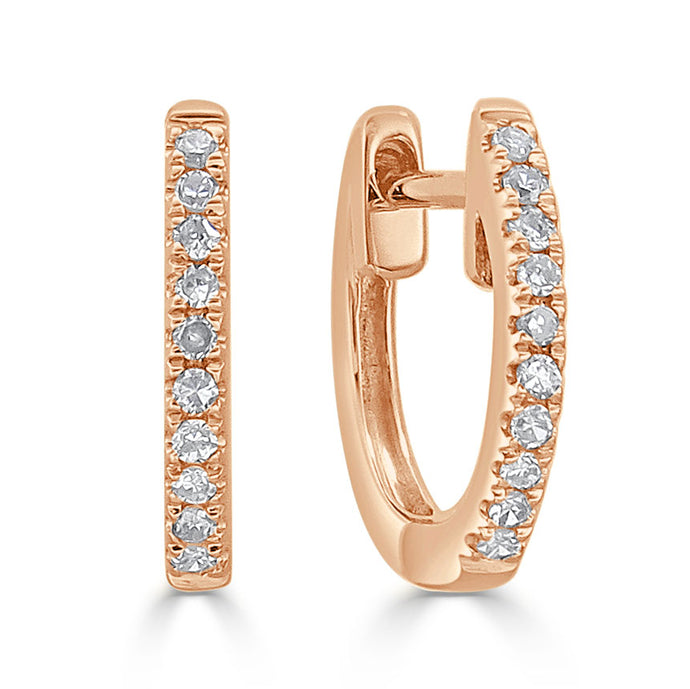 Sabrina Designs 18k Rose Gold Diamond Huggy Earrings