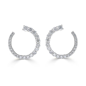 Sabrina Designs 18k White Gold Diamond Earrings