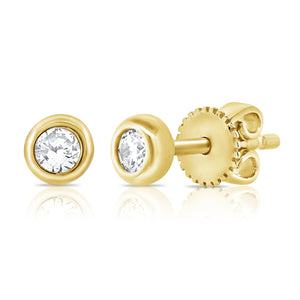 14k Gold & Diamond Stud Earrings