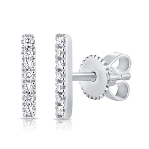 Sabrina Designs 14K White Gold Diamond Bar Earrings