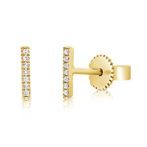 Sabrina Designs 14K Yellow Gold Diamond Bar Earrings
