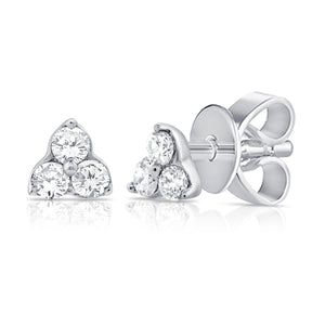14k Gold & Diamond Tiny Stud Earrings