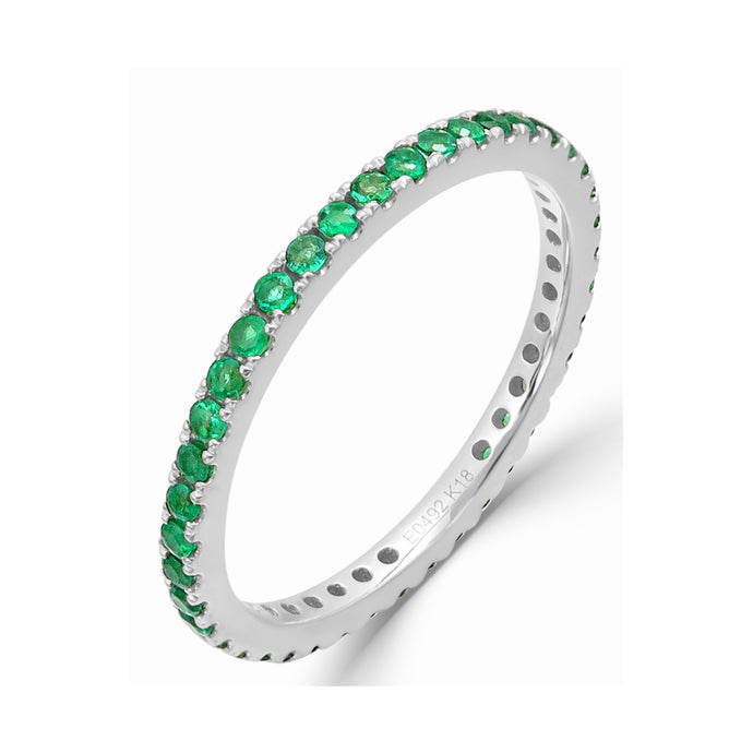 Sabrina Designs 14K White Gold Emerald Ring