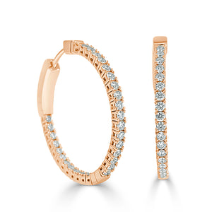 Sabrina Designs 14K Rose Gold Flexible Diamond Hoops