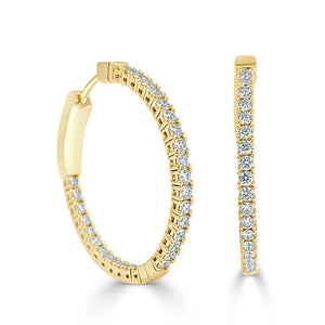 Sabrina Designs 14K Yellow Gold Flexible Diamond Hoops
