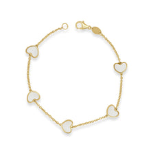 Load image into Gallery viewer, 14k Gold Heart Bracelet