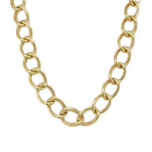 14k Gold Curb Link Necklace