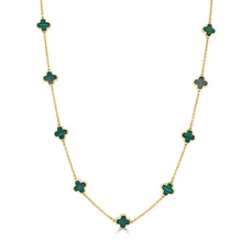 Load image into Gallery viewer, 14k Gold Clover Necklace