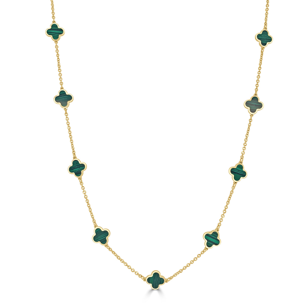 14k Gold Clover Necklace