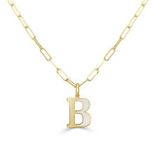 Load image into Gallery viewer, 14k Gold initial Necklace - Small