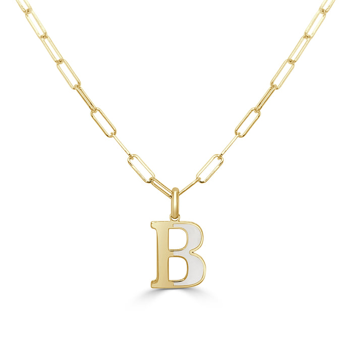 14k Gold Initial Necklace - Small