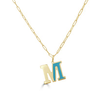 Load image into Gallery viewer, 14k Gold Initial Necklace - Medium