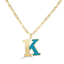Load image into Gallery viewer, 14k Gold Initial Necklace - Large