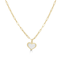 Load image into Gallery viewer, 14k Gold & Pearl Heart Necklace