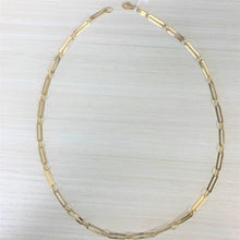 Load image into Gallery viewer, 14k Gold Paperclip Link Necklace