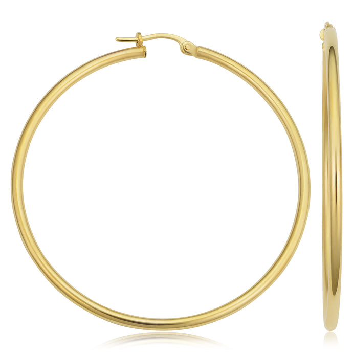 14k Gold Hoop Earrings - 1.75