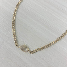Load image into Gallery viewer, 14k Gold & Diamond Paperclip Link Necklace