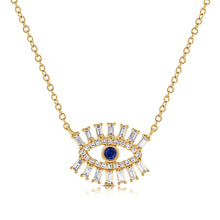 Load image into Gallery viewer, 14k Gold & Diamond Evil Eye Necklace