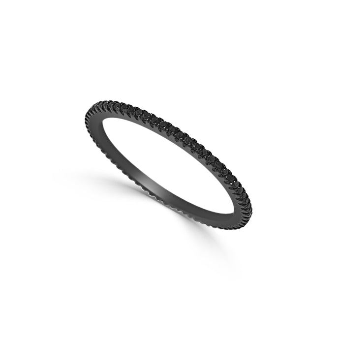 14k Black Gold & Black Diamond Eternity Ring