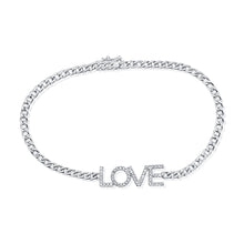 Load image into Gallery viewer, 14k Gold & Diamond Love Link Bracelet