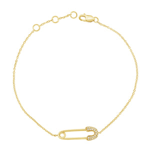 14k Gold & Diamond Bracelet