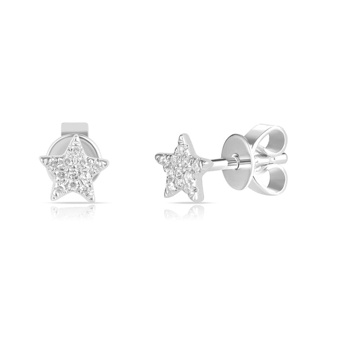 Sabrina Designs 14K White Gold Tiny Star Diamond Studs