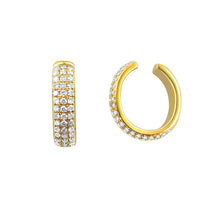Load image into Gallery viewer, 14k Gold & Diamond Single Earring Cuff