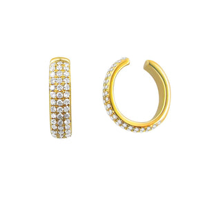 14k Gold & Diamond Single Earring Cuff
