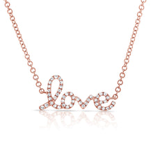 Load image into Gallery viewer, Sabrina Designs 14k Rose Gold Diamond Love Necklace
